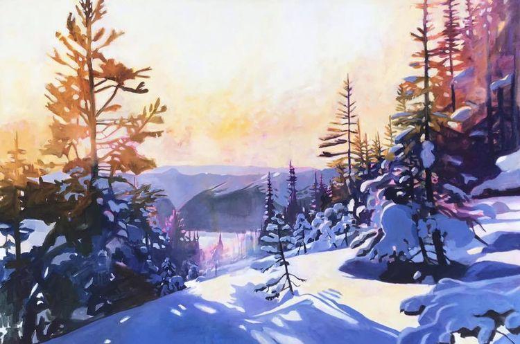 Alpenglow 40 60 oil canvas - marktworow | ello