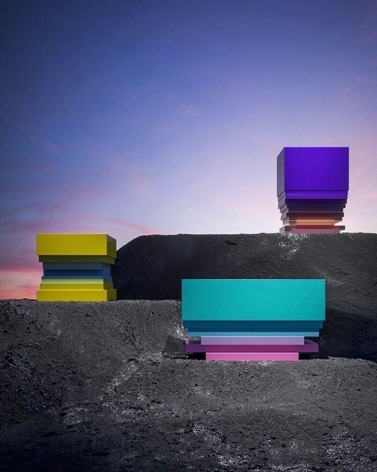 Colourful Cubic Totem Instagram - danielmedina3d | ello