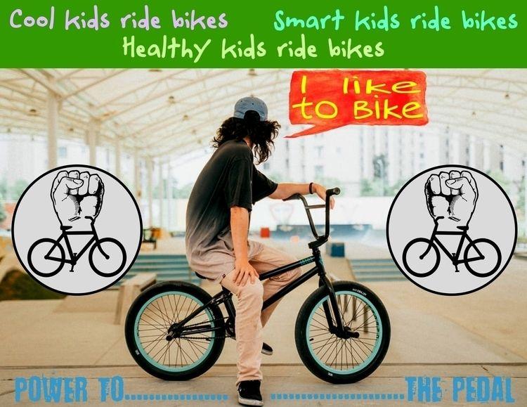 Cool kids ride bikes. Smart Hea - bicyclesrecycle | ello