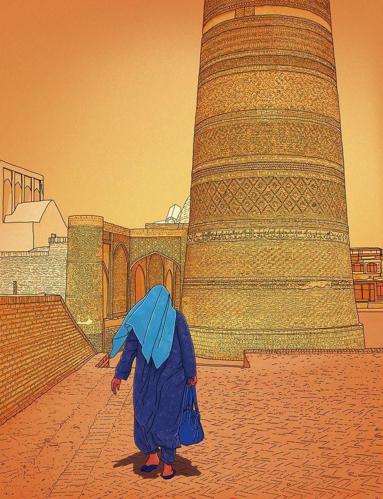 Bukhara Sunset Uzbekistan nowad - digitalillustrationworks | ello