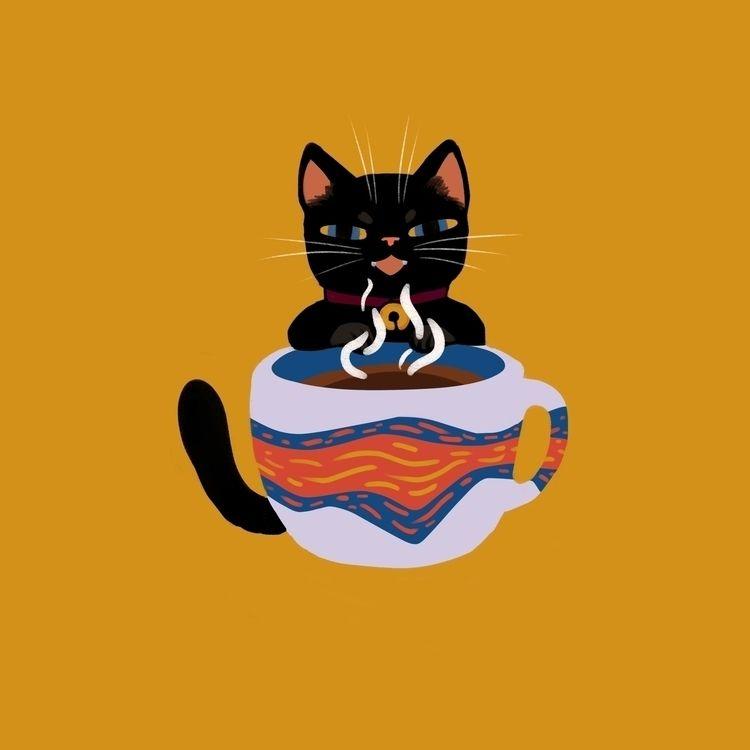 digital, illustration, cats, characters - morrowingsart | ello