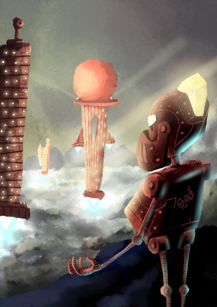 digital illustration futuristic - fresscus   ello
