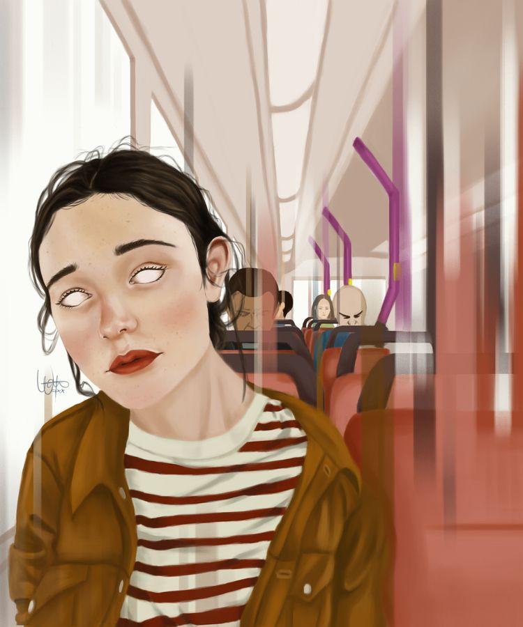 hypnotic bus ride - digitalpainting - ohwatah   ello