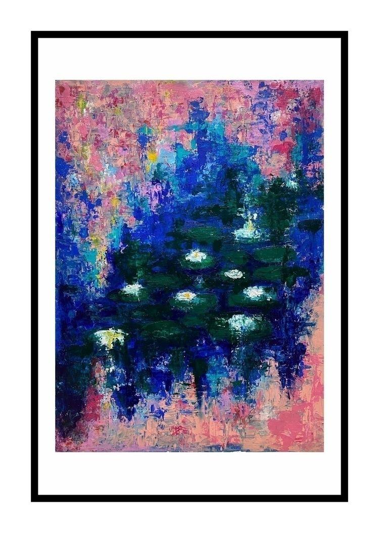 """Abstraction eden"". 50X70cm acr - reacharnab | ello"