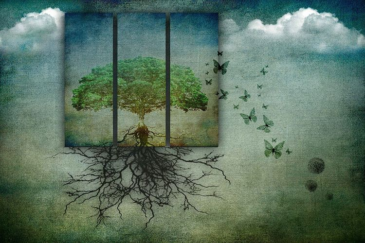 fled tree - fineart, artwork, art - gusfineart   ello