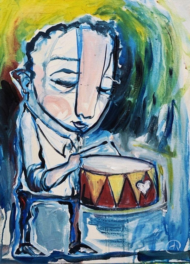 Drumming, 2020 - whateveryouart | ello