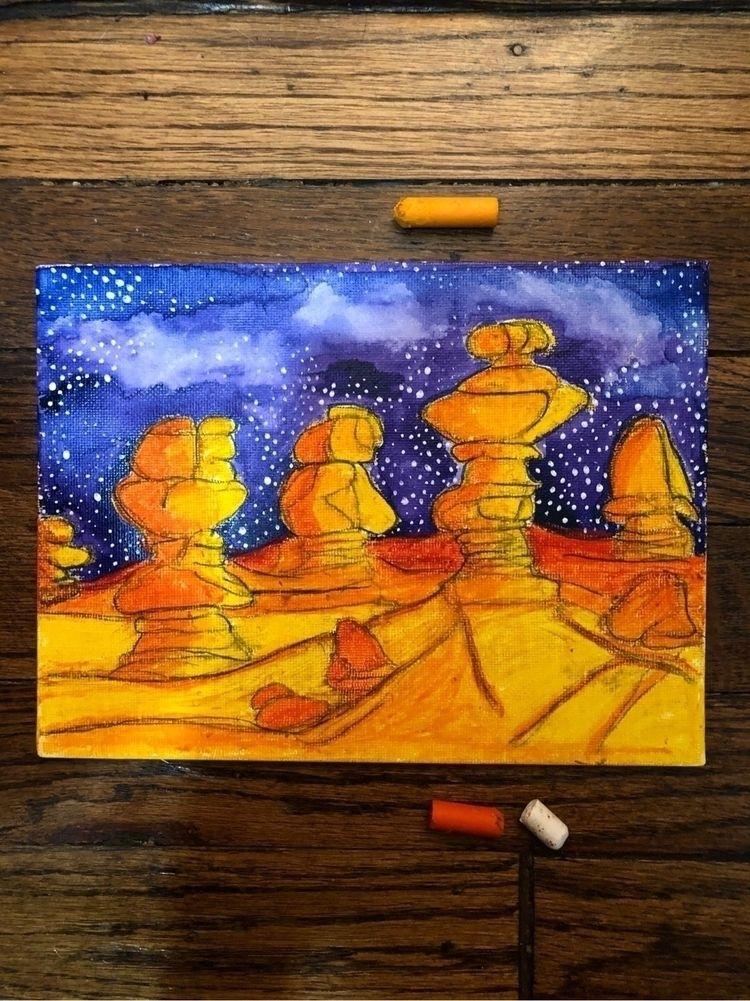 Oil pastels watercolor - shilahmm   ello