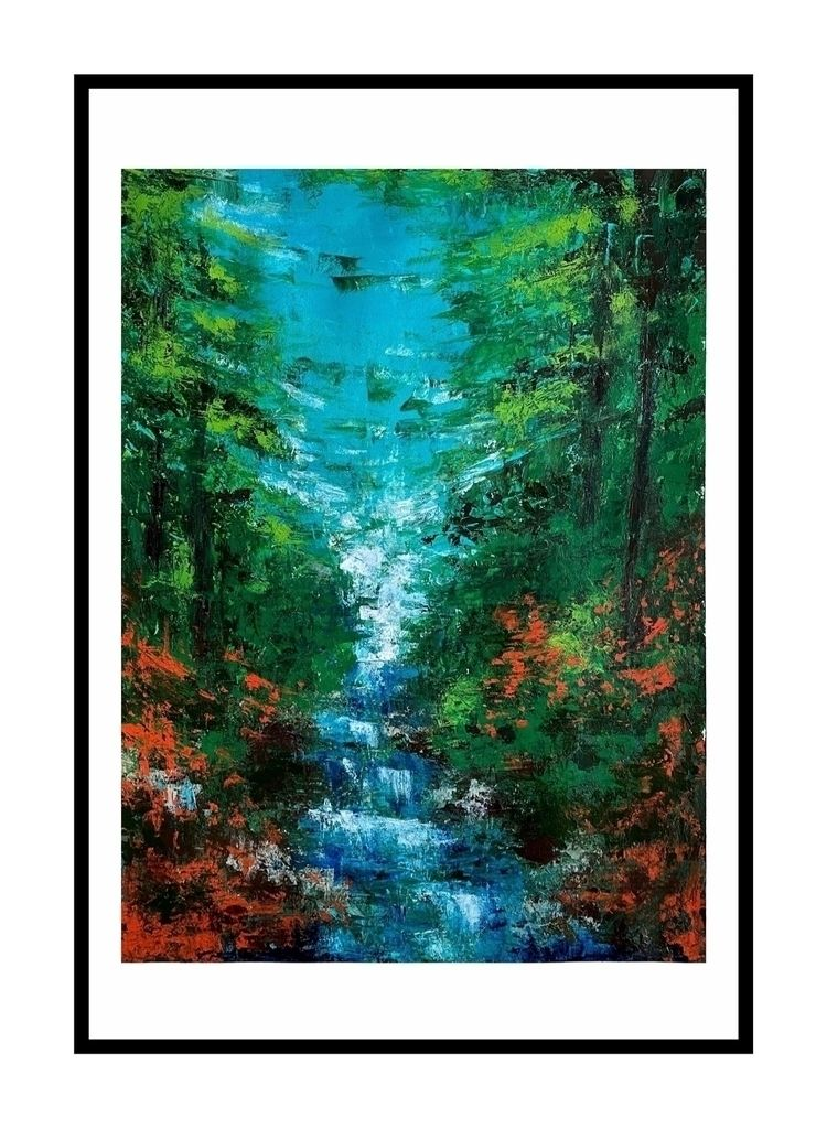 """Corbett falls"" abstract painti - reacharnab | ello"