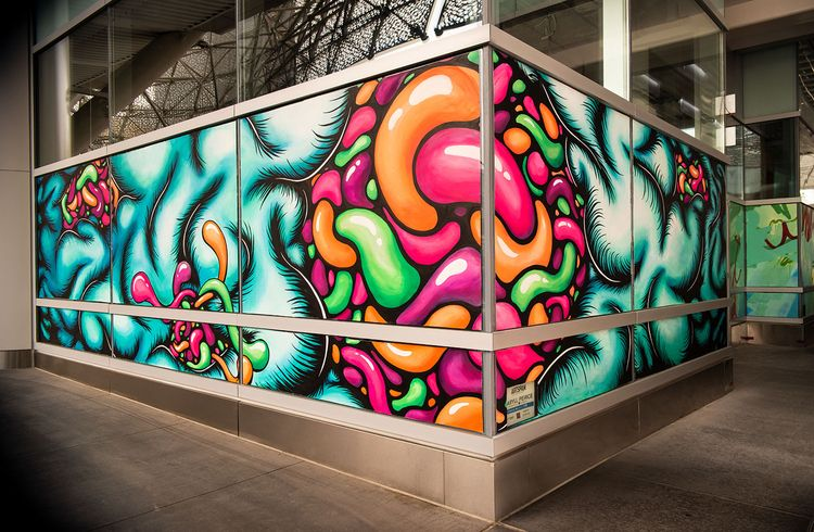 Plexus 7'x32' mural San Francis - daryllpeirce   ello
