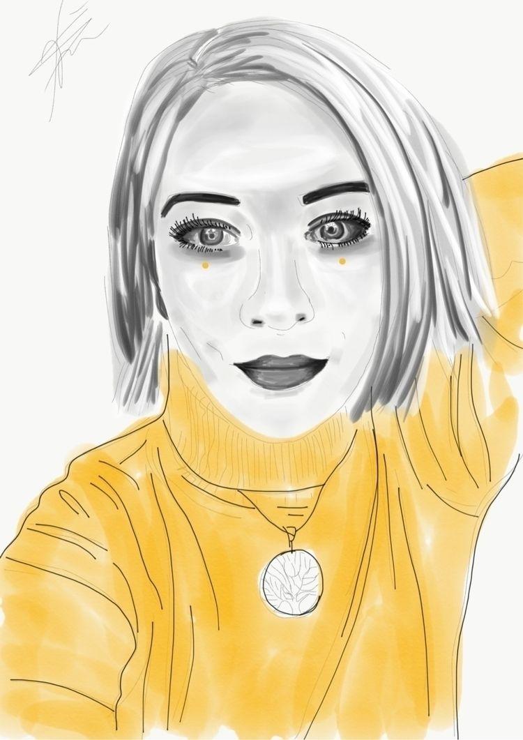 Autoportrait - digitalsketch, digitalello - freemindd | ello
