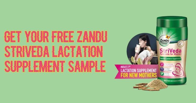 Free Sample Zandu StriVeda Lact - freebiesloot   ello