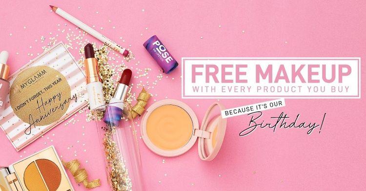 MyGlamm App: Free Makeup Rs. 50 - freebiesloot | ello