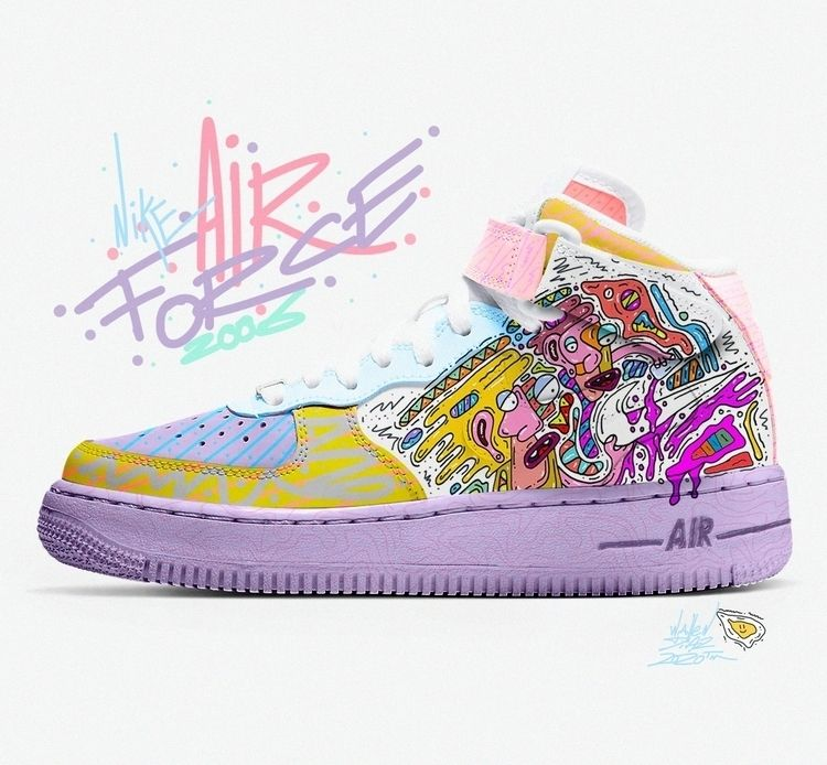 Custom Nike Air Force - Wallen  - wallendiaz   ello