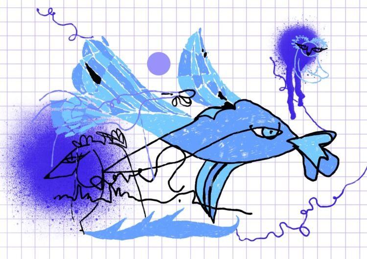 Blue Bear/digital drawing - ilzeabika | ello