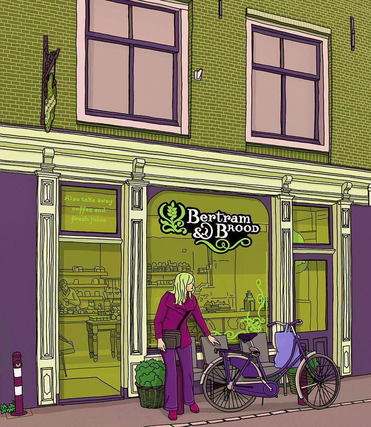Bakery quiet area Amsterdam - digitalillustrationworks | ello