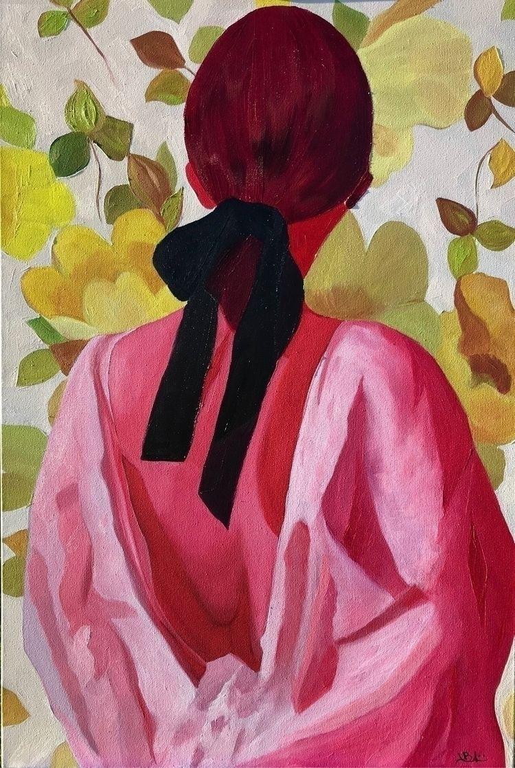 "Meet ""Rose"" 24x36"" canvas - oilpainting - jacquelinebandini | ello"