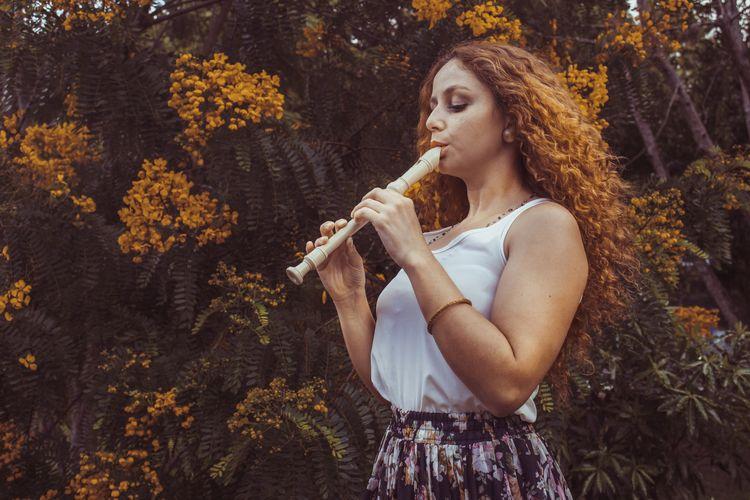 Music heart Pam - flute, yellow - felipecogumello   ello