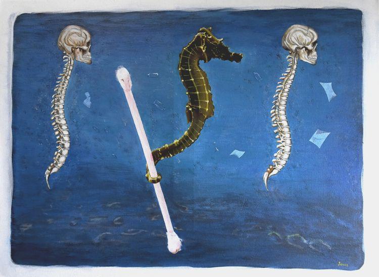 SeahorseQ Acrylic canvas, 61x46 - teragram1 | ello