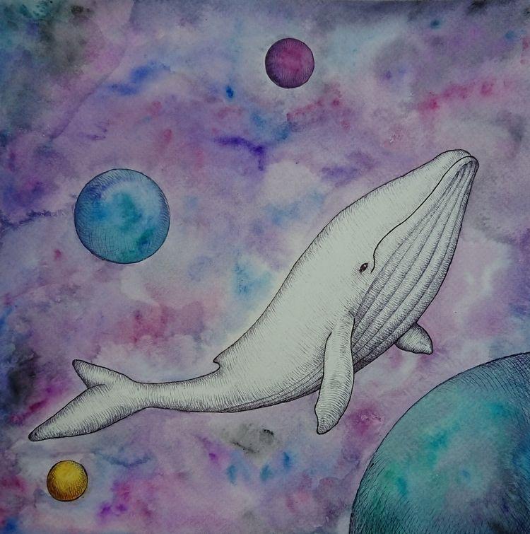 watercolor, space - rosemarie19 | ello