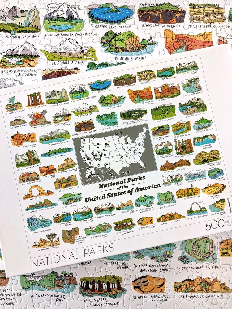 500 Piece National Parks Puzzle - wearebrainstorm | ello