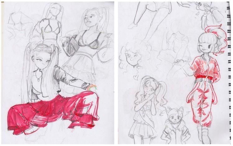sketchbook pages - lemonbaristas   ello