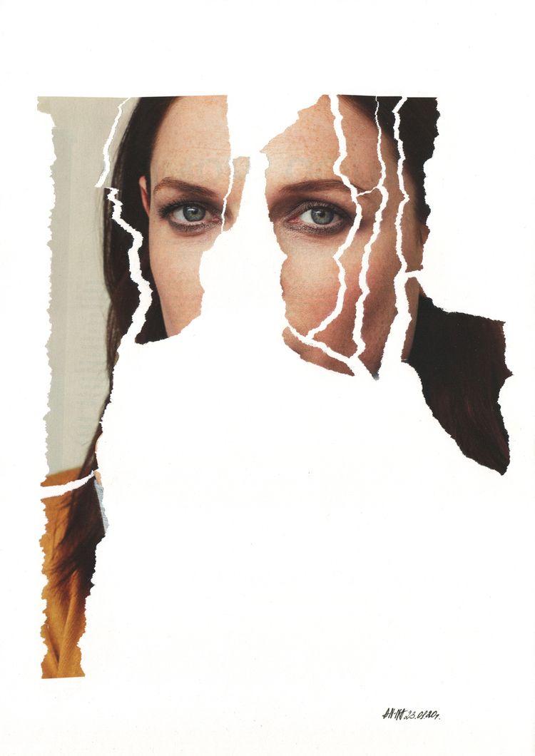 Untitled paper, collage, 29×42c - annakiartist   ello