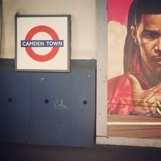 tube stop - camdentown, london, advertisement - streetcam   ello