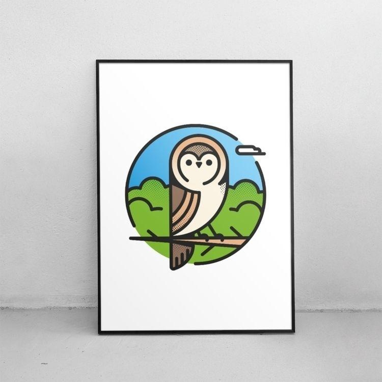 Owl formats sizes Society6 - lucho-mndz | ello