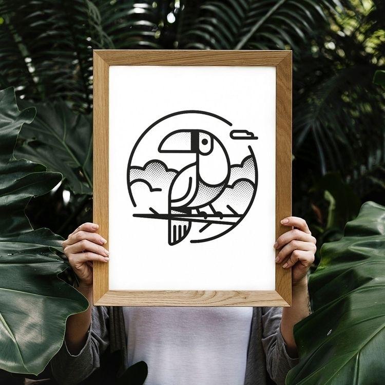 Toucan formats sizes Society6 - lucho-mndz | ello