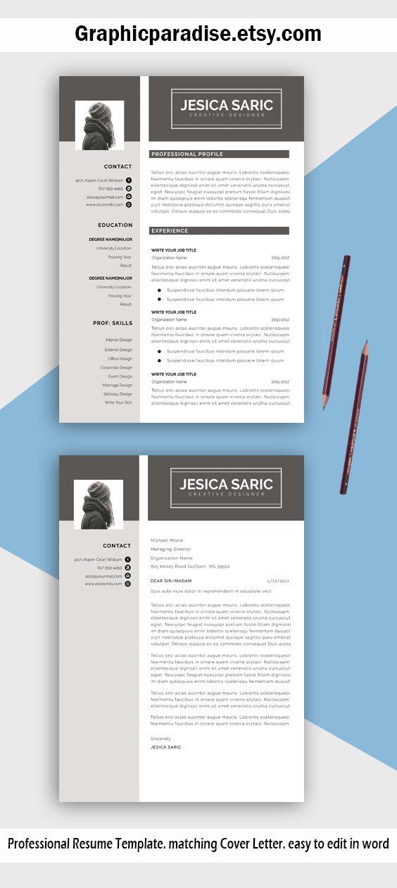 Resume template, Professional r - graphicparadise   ello