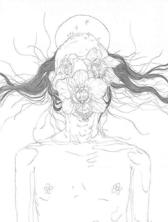 死 (2019) 80 60cm - art, artwork - linsshit | ello