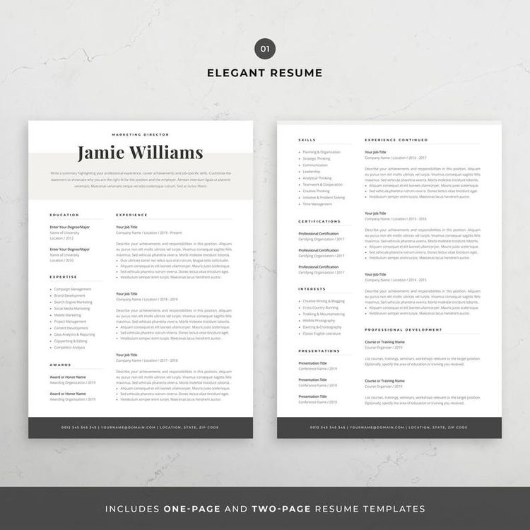 Resume design template modern   - graphicparadise   ello
