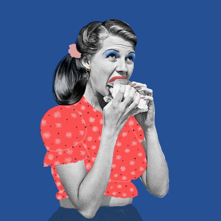 eating - portrait, illustration - ievarag1 | ello