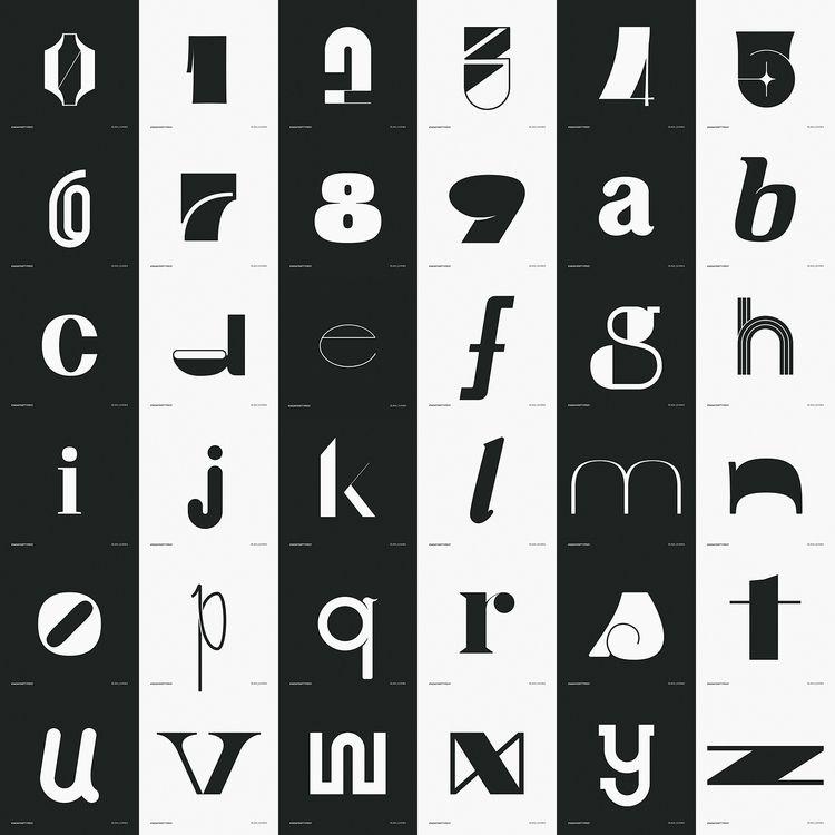 entry (2020) -  - typography, 36days07 - jamgomes | ello