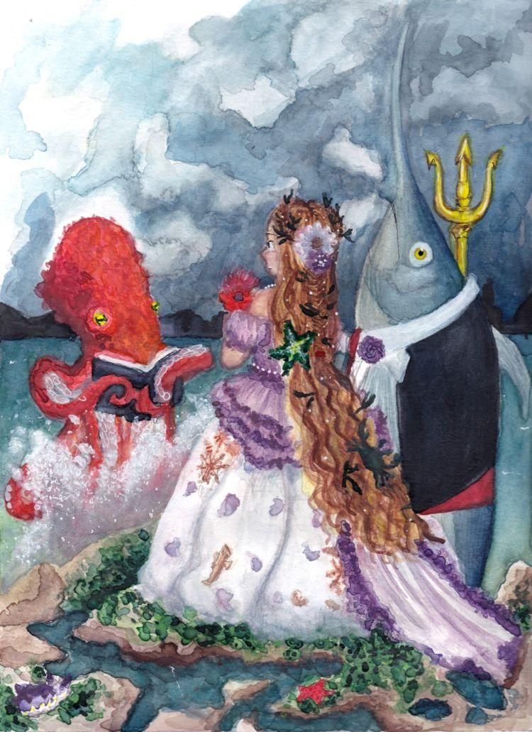 Seawife (watercolour - coobcakes | ello