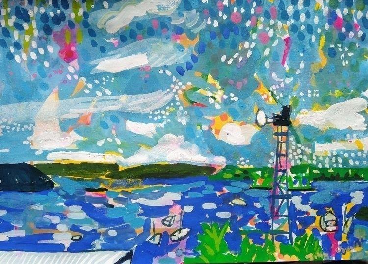 Window gouache paper - art, artist - johndouglasart   ello