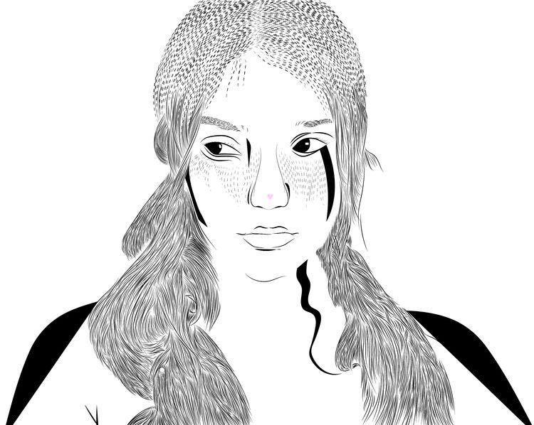 girl, babyyygorilla, illustration - danielkeysary | ello