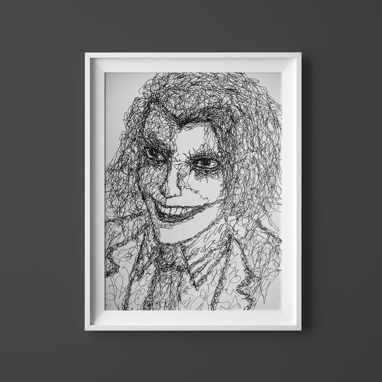 Joker drawn 1-scribble-line. 30 - imduke | ello