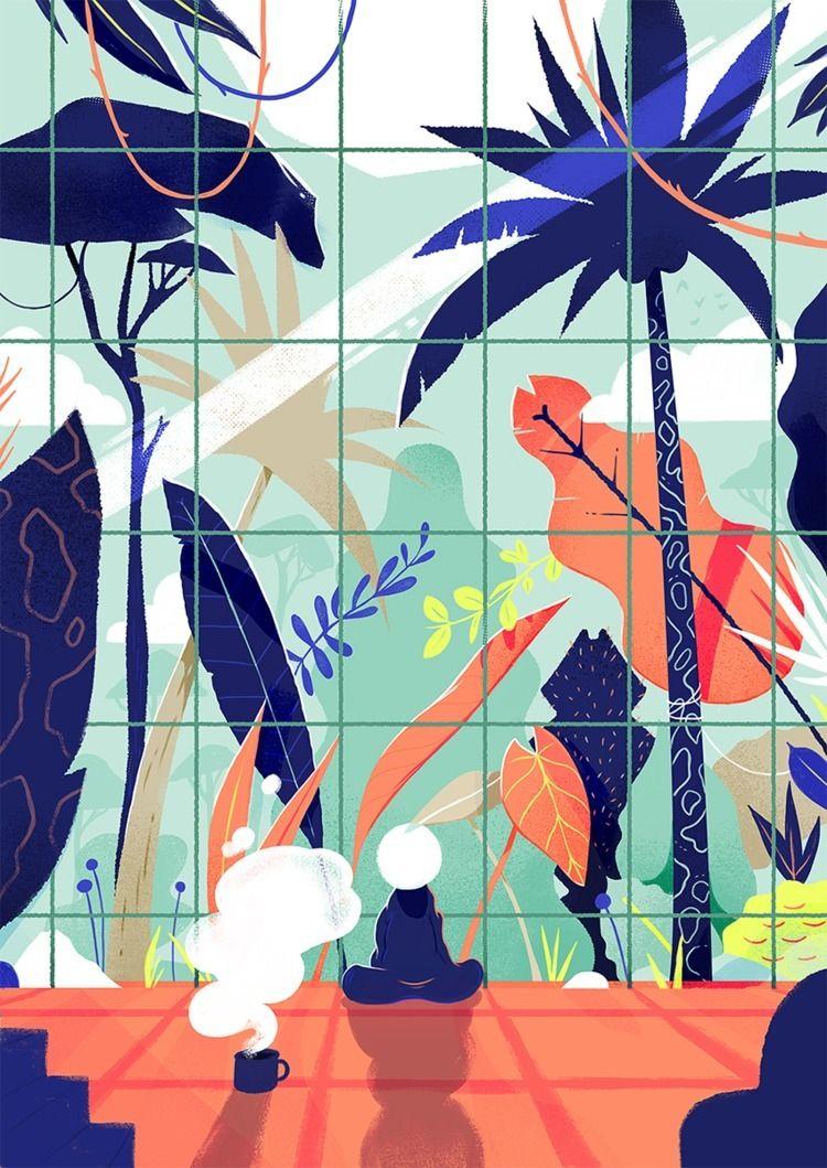illustration, jungle - paykhan   ello