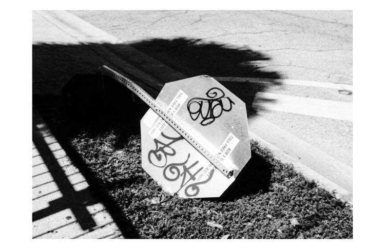 Downed Stop Sign, 2018 - Miami, fujifilm - celgarcia   ello