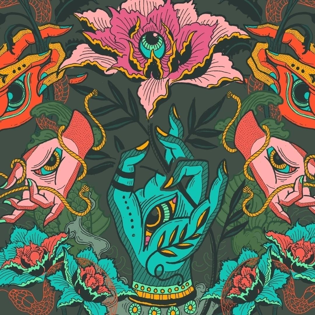 'Garden Earthly Delights' II - illustration - polkip | ello