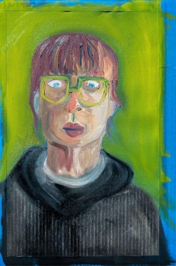 portrait - oilpaint, selfportrait - alyssasnavely   ello