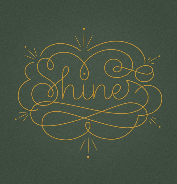 difficult times shine - handlettering - miscellany-kanika | ello