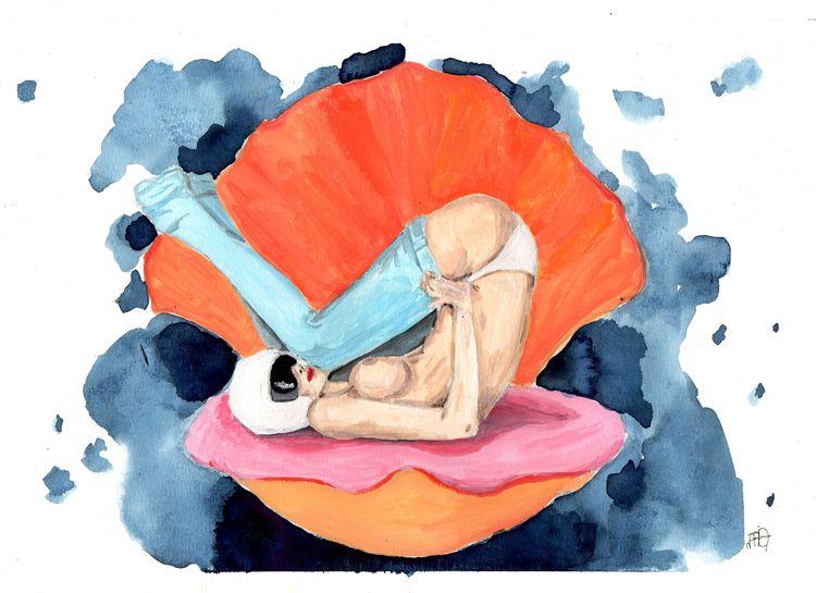 illustration, elloart, shell - nataliadamiao   ello