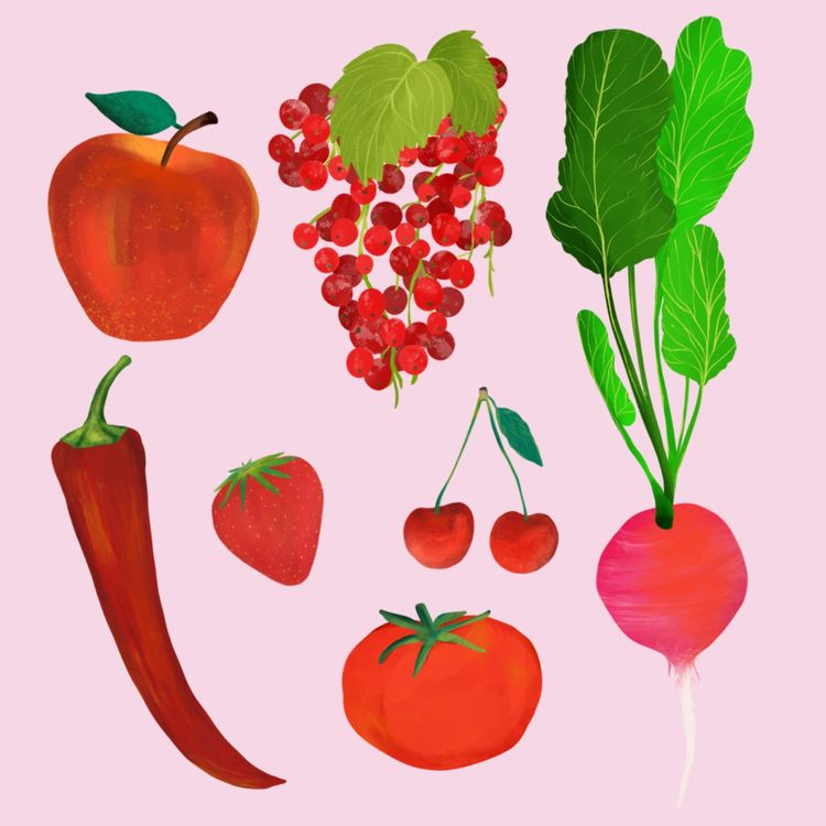 Red Fruits Vegetables - elifcesur | ello