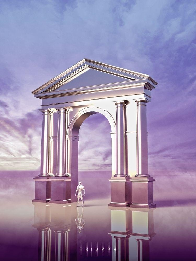 Digital art. CGI. Cinema 4D Ins - archiefox | ello