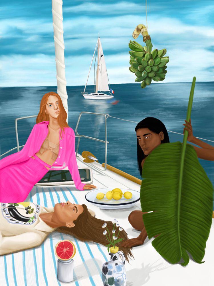 Jacquemus sailing Santa Marta - stefaniatejada   ello