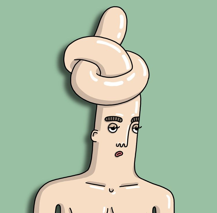 Bad headache - portrait, head, face - shenjatatschke   ello