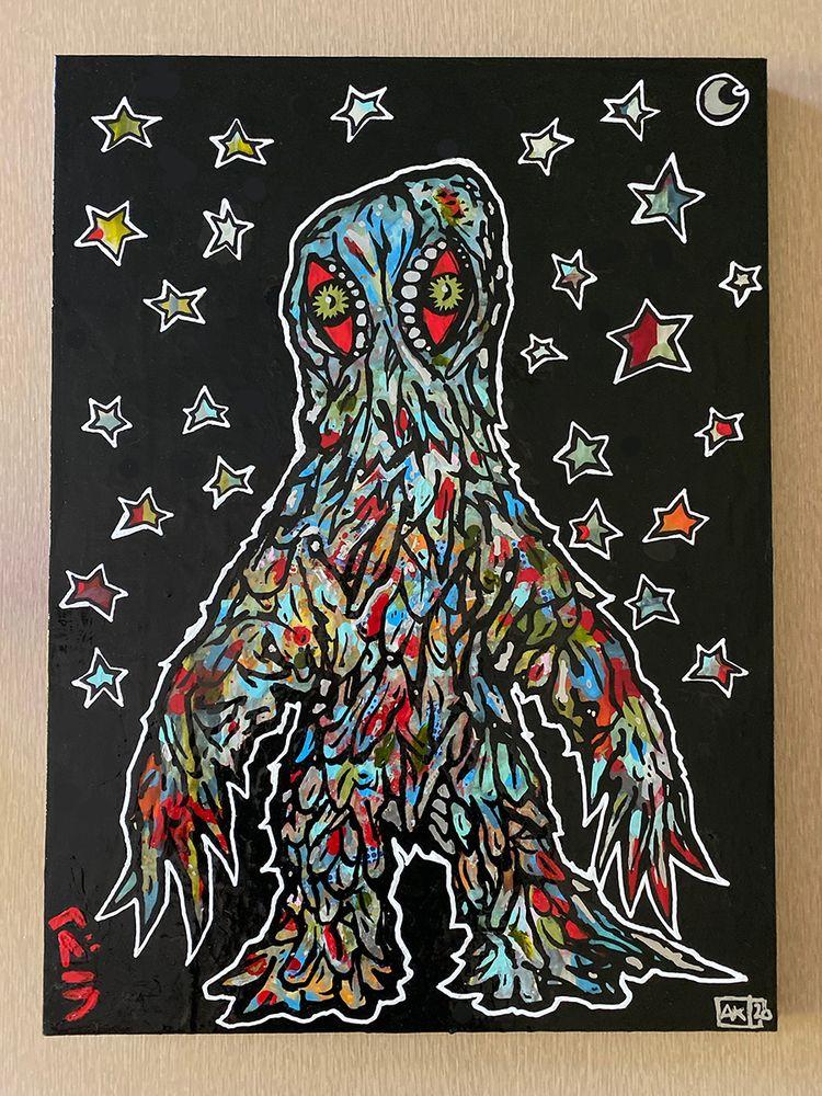 weekend painted Smog Monster /  - aaronkraten | ello