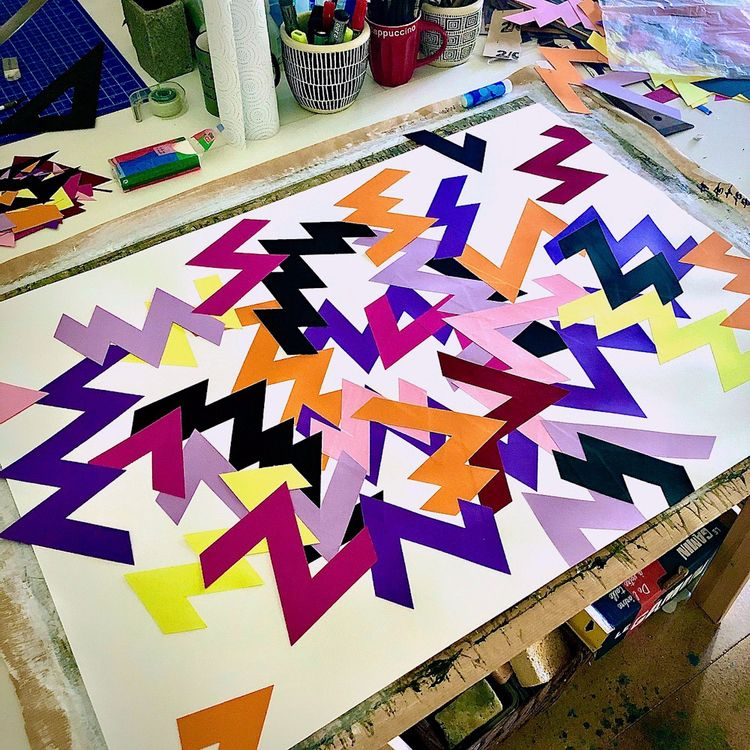 Coloured Lightning... week work - edbuzz | ello